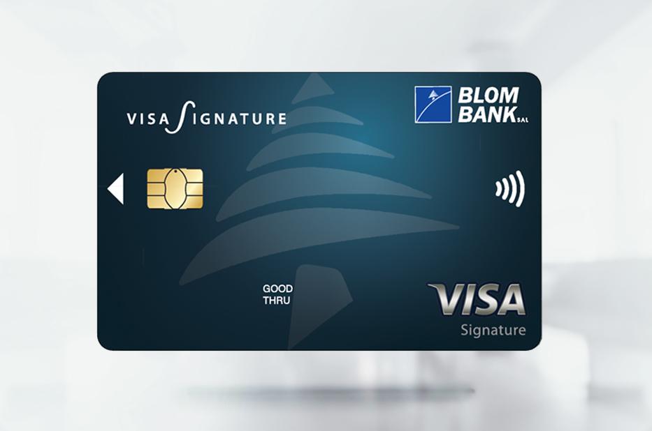 BLOM Visa Signature Credit Card | BLOM Bank Jordan